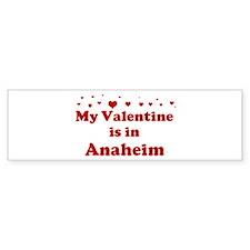 Valentine in Anaheim Bumper Bumper Sticker
