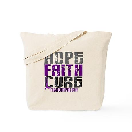 HOPE FAITH CURE Fibromyalgia Tote Bag