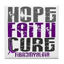 HOPE FAITH CURE Fibromyalgia Tile Coaster