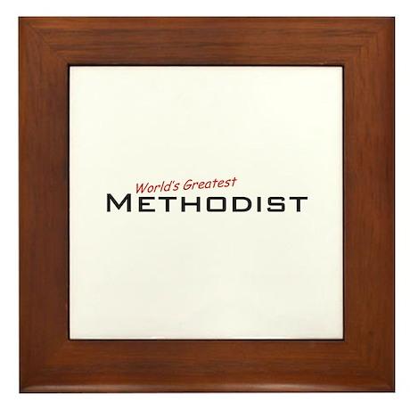 Great Methodist Framed Tile