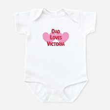 Dad Loves Victoria Infant Bodysuit