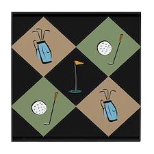 Classy Golf Lover Tile Coaster