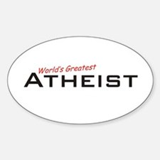 Great Atheist Oval Decal