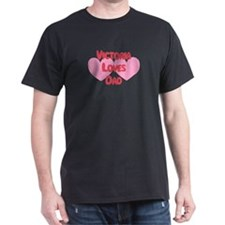 Victoria Loves Dad T-Shirt