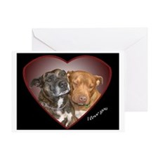 I Love You (Staffy 1) Greeting Card
