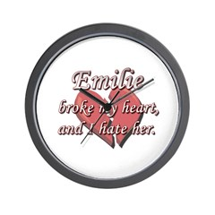 Emilie broke my heart and I hate her Wall Clock
