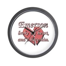 Emerson broke my heart and I hate him Wall Clock