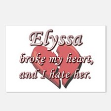 Elyssa broke my heart and I hate her Postcards (Pa