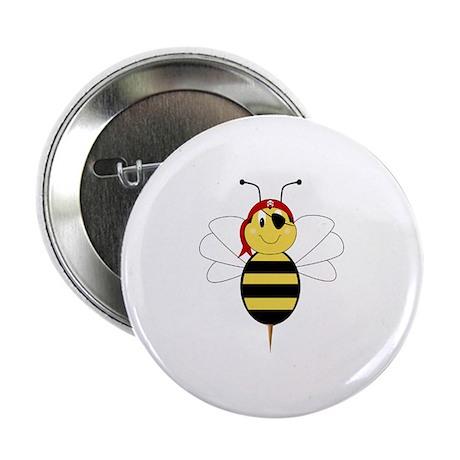 """Arrr!Bee Bumble Bee 2.25"""" Button"""