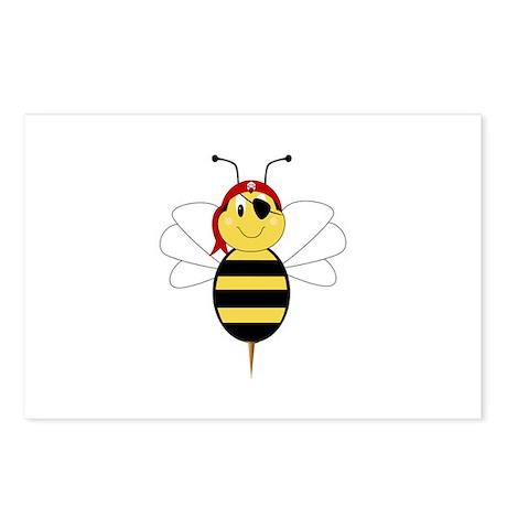 Arrr!Bee Bumble Bee Postcards (Package of 8)