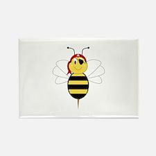 Arrr!Bee Bumble Bee Rectangle Magnet