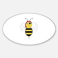 Arrr!Bee Bumble Bee Oval Decal