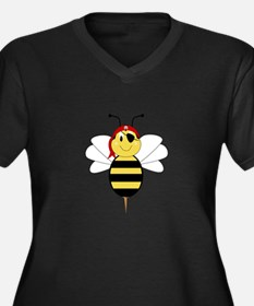 Arrr!Bee Bumble Bee Women's Plus Size V-Neck Dark