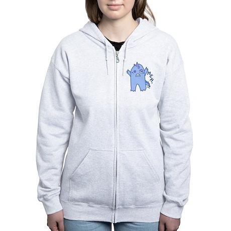 Blue Monster Women's Zip Hoodie