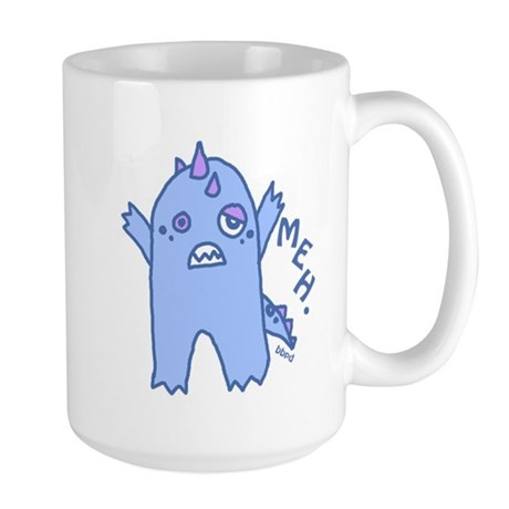 Blue Monster Large Mug