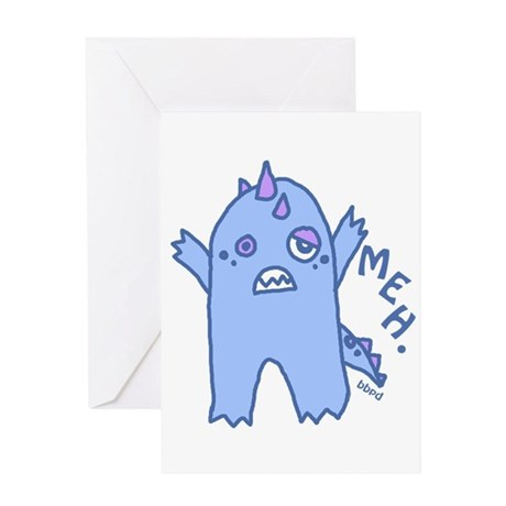 Blue Monster Greeting Card