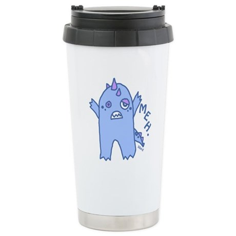 Blue Monster Stainless Steel Travel Mug