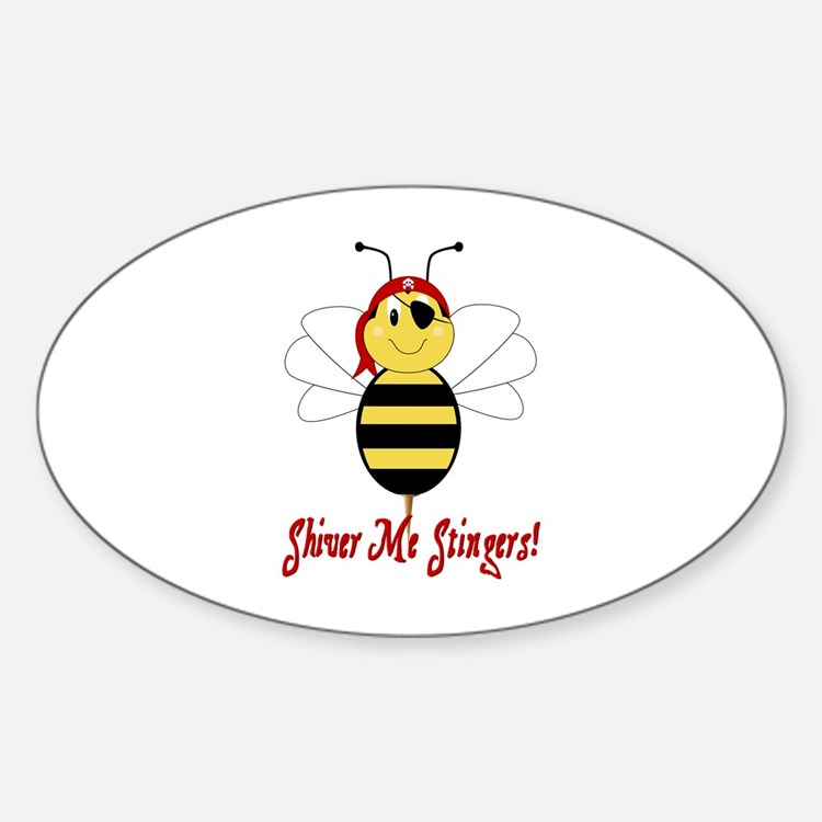 Shiver Me Stingers Oval Decal