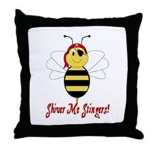 Shiver Me Stingers Throw Pillow