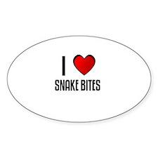 I LOVE SNAKE BITES Oval Decal