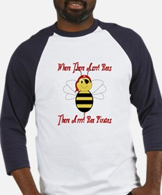 Where There Arrr! Bees Baseball Jersey