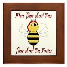 Where There Arrr! Bees Framed Tile