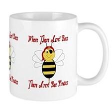 Where There Arrr! Bees Small Mug