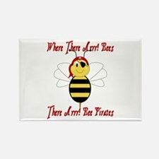Where There Arrr! Bees Rectangle Magnet