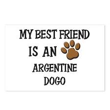 My best friend is an ARGENTINE DOGO Postcards (Pac
