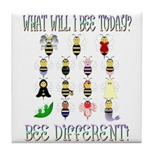 What Will I Bee Today Tile Coaster