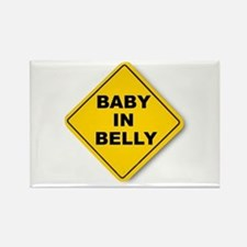 Baby in Belly Rectangle Magnet