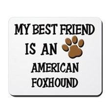 My best friend is an AMERICAN FOXHOUND Mousepad