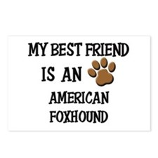 My best friend is an AMERICAN FOXHOUND Postcards (