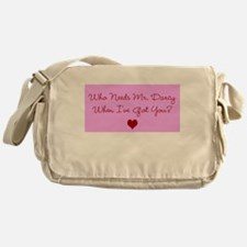 Who Needs Mr. Darcy? Pink Messenger Bag