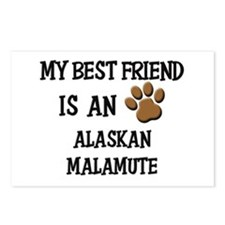 My best friend is an ALASKAN MALAMUTE Postcards (P