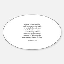 NUMBERS 8:12 Oval Decal
