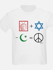 USA + Israel - Islam = Peace Kids T-Shirt