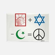 USA + Israel - Islam = Peace Rectangle Magnet