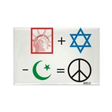 USA + Israel - Islam = Peace Rectangle Magnet (10