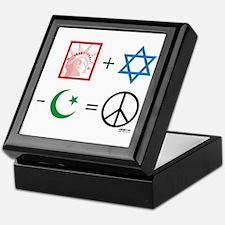 USA + Israel - Islam = Peace Keepsake Box