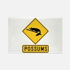 Caution With Possums, Australia Rectangle Magnet