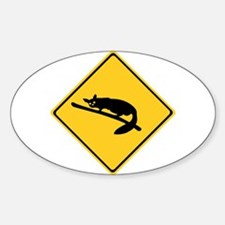 Caution With Possums, Australia Oval Decal