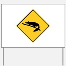 Caution With Possums, Australia Yard Sign