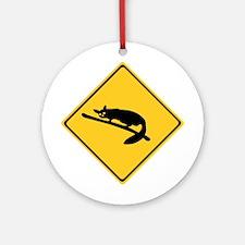 Caution With Possums, Australia Ornament (Round)
