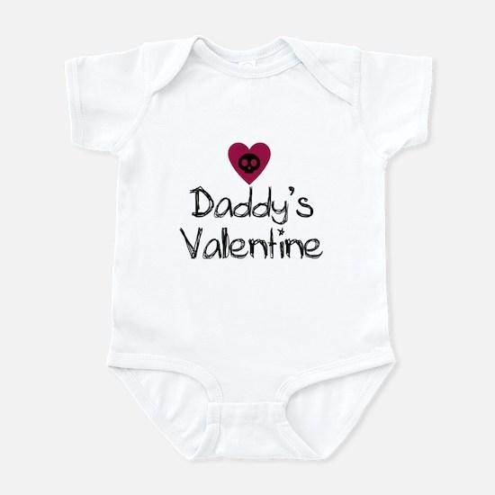 Daddy's Valentine Skull Heart Baby Infant Bodysuit