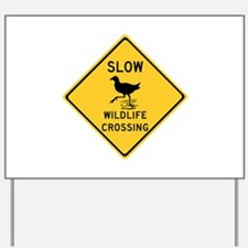 Slow Wildlife Crossing, Australia Yard Sign