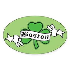 Boston on Shamrock Oval Decal