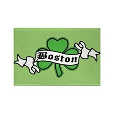 Boston on Shamrock Rectangle Magnet