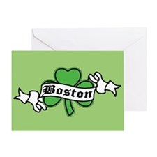 Boston on Shamrock Greeting Card