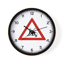 Watch Out For Monkeys, Saudi Arabia Wall Clock